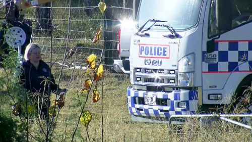Queensland Police continue to search a regional property north of Ipswich today after it was declared a crime scene on Monday afternoon.