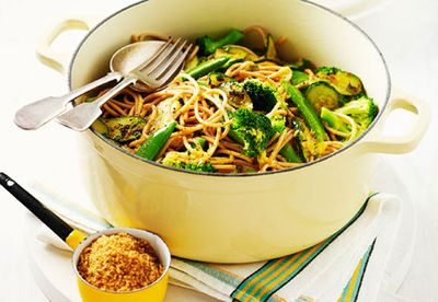 Wholemeal vegetable spaghetti