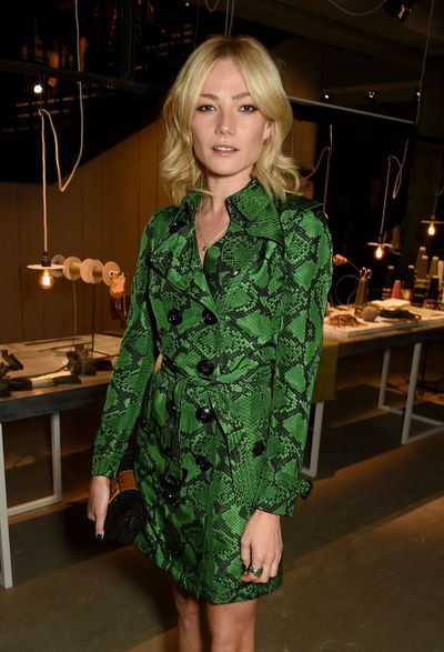 Clara Paget at Burberry, autumn/winter '16, London Fashion Week