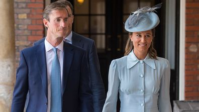 Pippa and her husband perfectly matched for the special event.