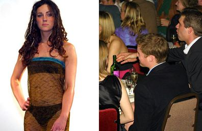 At age 19, she rocked this racy number for the university's charity fashion show - and apparently caught William's pervy eye.