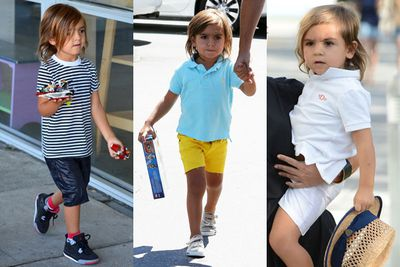 He's got a little of his mum Kourtney Kardashian's edge and a little of his dad Scott Disick's preppy style....no wonder this four-year-old gets it right every time he goes out for ice-cream. <br/>