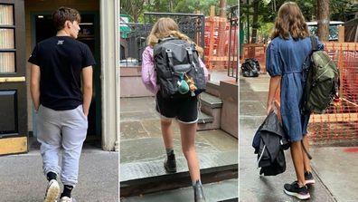 Sarah Jessica Parker's three kids head to school.