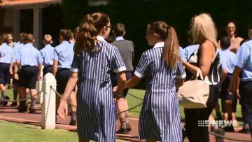 First girls begin classes at prestigious private school