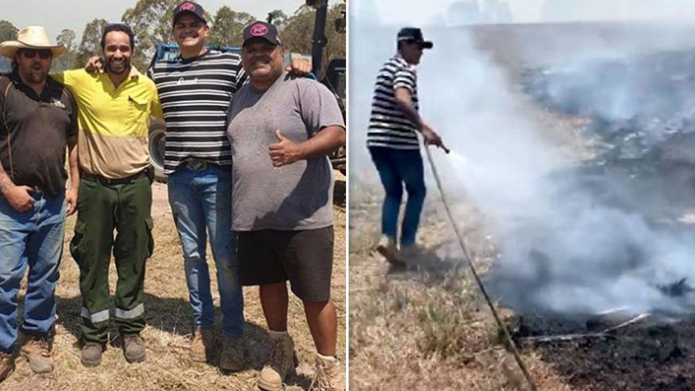 Latrell Mitchell joins the fight against NSW bushfires, protects local farm