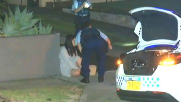 Police outside home invasion at Rodd point NSW