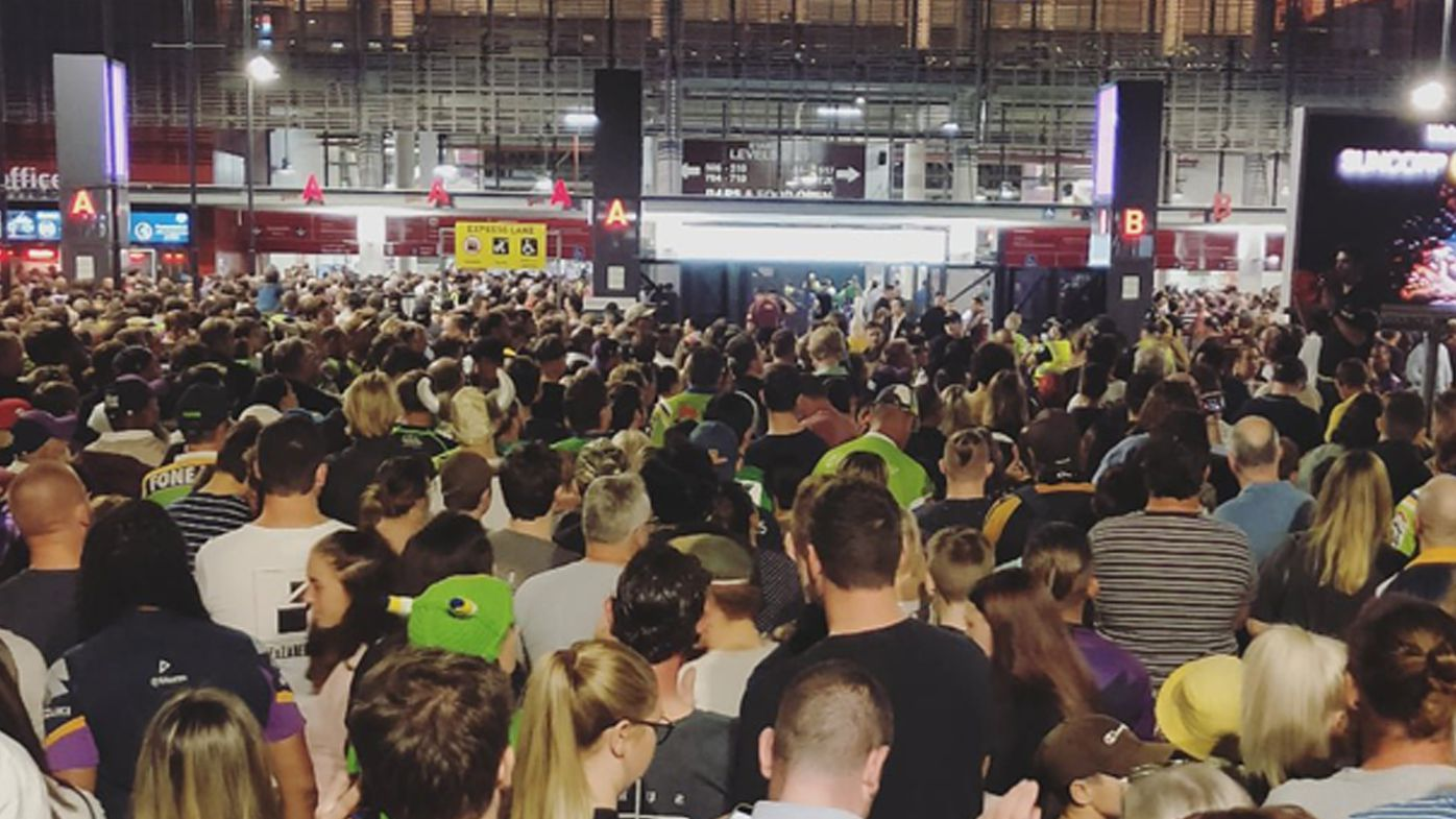 Triple M reporter Nick Davis tweeted this photo from outside Suncorp Stadium