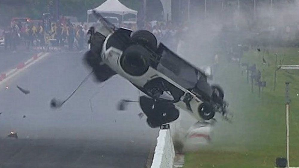 Drag racer's miracle escape from high speed crash