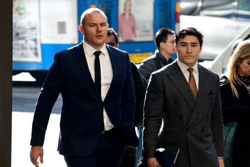 Former NRL player Martin Kennedy (left) is listed for sentence after previously pleading guilty to being involved in an exotic wildlife smuggling ring.