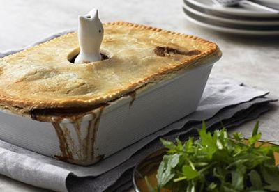Herbed duck and rabbit pie