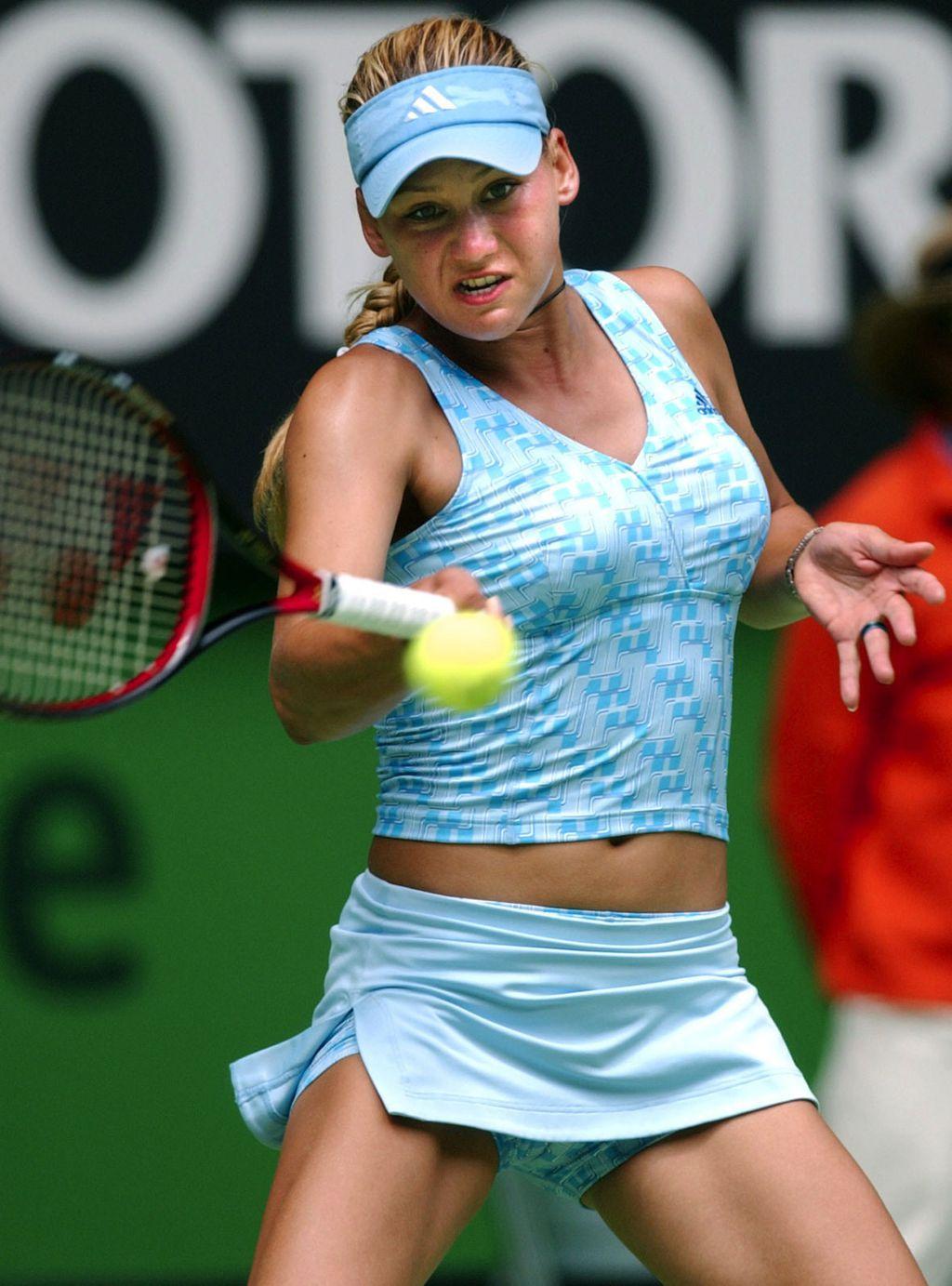 4bfc27d1b7 Anna Kournikova at the 2003 Australian Open. (AAP )