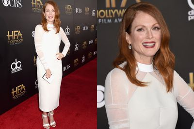 Julianne Moore, one of TheFIX's fave actresses, took home the Hollywood Actress Award for her upcoming Alzheimer's drama <i>Still Alice</i>.
