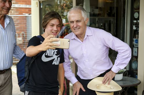 Malcolm Turnbull celebrating the re-election of John Alexander in Bennelong at the weekend. (AAP)