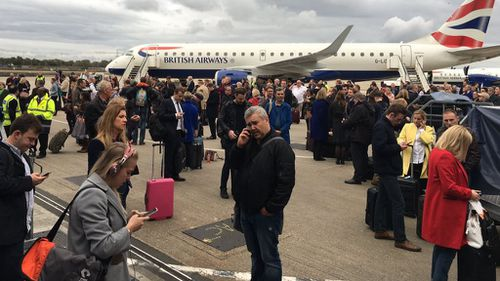 Man arrested after chemical unleashed at London airport