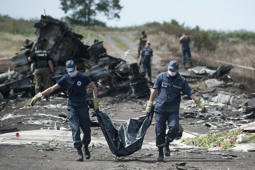 Malaysia Airlines Flight MH17 was downed over Ukraine with 298 people on board. Picture: AAP