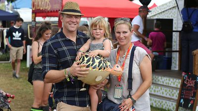 Mia Tindall joins her parents at a festival, August 2016