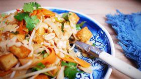 Easy sticky pork pad Thai recipe