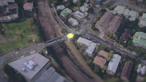 The crash happened on Swann Road, near Moggill Road, in Taringa. (9NEWS)