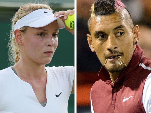 Donna Vekic and Nick Kyrgios. (AFP)
