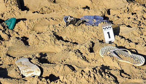 The crime scene area where a suspected gang rape took place in Rimini. Italy. (Photo: AP).