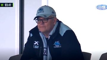 Victorian Premier refuses to comment on PM's NRL appearance