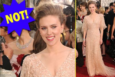 She looks like a dusty old dishcloth. What happened to Scarlett the bombshell?