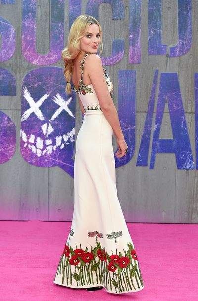 Margot Robbie at the <em>Suicide Squad</em> premiere in London on August 3, 2016