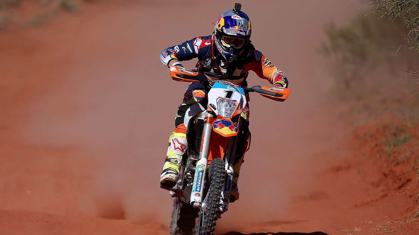 Australian motorcyclist Toby Price airlifted to hospital after Dakar Rally crash in Saudi Arabia