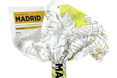 <strong>Crumpled Map, $16</strong>