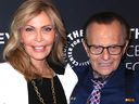 Larry King and wife Shawn, 2018 in Beverly Hills, California.