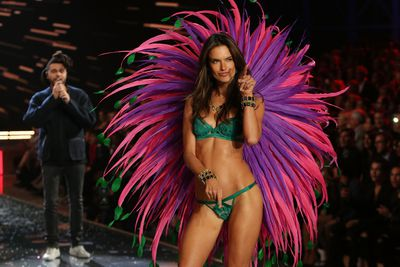 """<p>2. Adriana Lima</p> <p>Mother-of-two Lima, 35, has chalked up 15 years on the catwalk for Victoria's Secret. Her goal is to walk in 20 shows. Number 16 is on the cards.<span class=""""Apple-tab-span"""" style=""""white-space: pre;""""></span></p>"""
