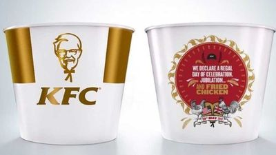 KFC royal wedding commemorative bucket