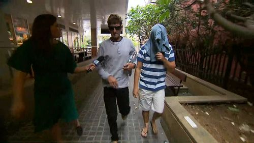 Christopher Sharp was arrested today and granted bail. (9NEWS)