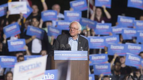 Hillary Clinton's chief rival in the Democratic field, Senator Bernie Sanders. (AAP)