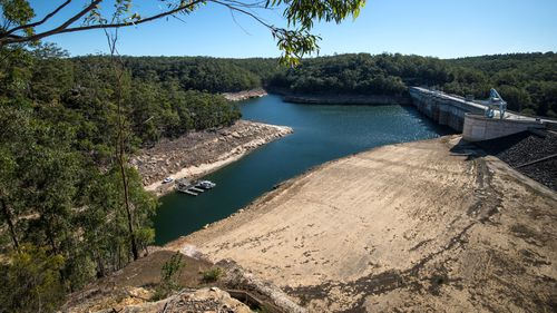 Views of Warragamba Dam in May 2019.
