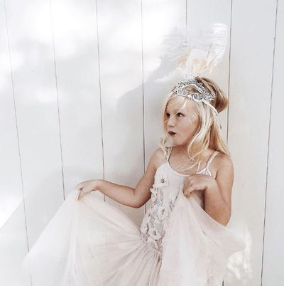 <strong>3. Rylee</strong> is a tiny blonde poppet styled by her beautiful mum in wondrous ethereal style.