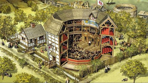 An illustration of the historic Rose theatre. (BBC News)