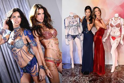 Long-time Angels Adriana Lima and Alessandra Ambrosio have already shown off the $2 million Dream Angels Fantasy Bras for the 2014 show.<br/><br/>Adriana is the longest-serving Angel ever, walking her first VS show in 1999 and becoming an Angel in 2000. Fellow Brazilian glamazon Alessandra joined in 2004.