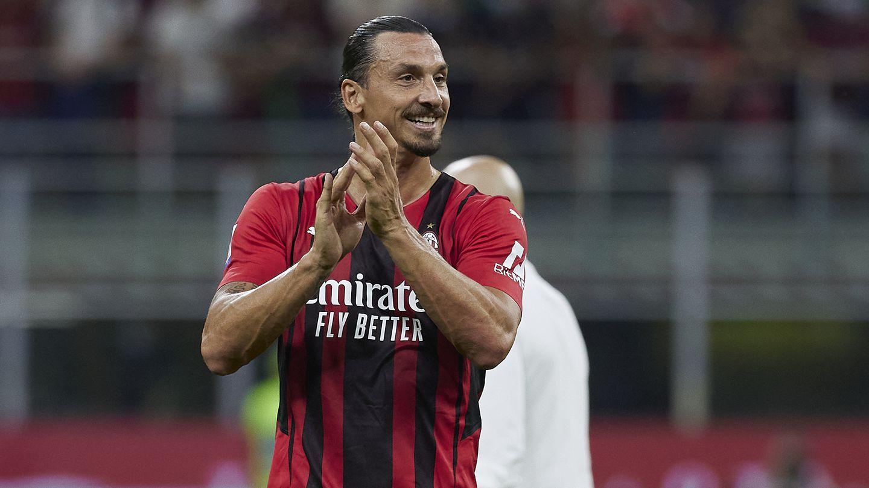 Zlatan Ibrahimovic of AC Milan.