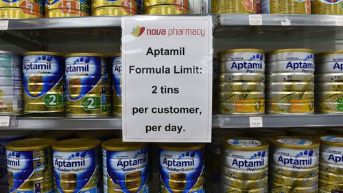 Supermarkets have been forced to put limits on how many tins can be purchased at each shop.