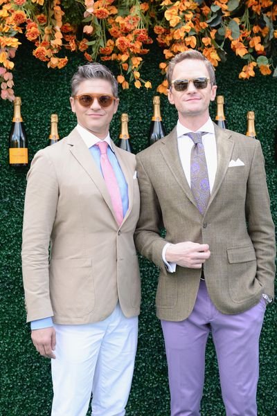 David Burtka with husband Neil Patrick Harris at the Veuve Clicquot Polo Classic in New York.