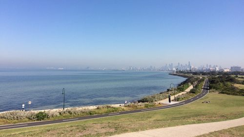 Melbourne city, seen from afar. (9NEWS/Livinia Nixon)