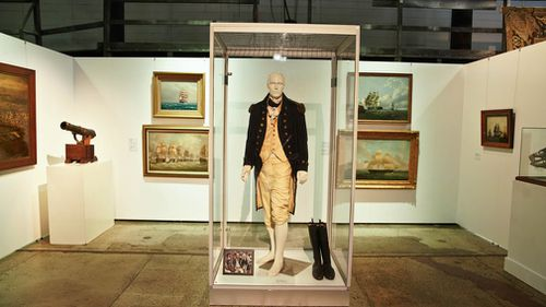 """A costume from the film """"Master and Commander"""". (AAP)"""