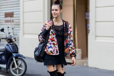 Model off duty at Wunderkind, Milan
