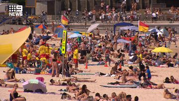 Bondi Beach is nearing capacity and could be closed soon.