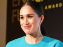 Meghan announces an award during the annual Endeavour Fund Awards on March 5, 2020 in London.
