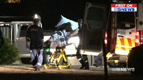 The ute's driver was taken to hospital with minor injuries. (9NEWS)