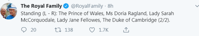 The palace mixed up Lady Jane and Lady Sarah.