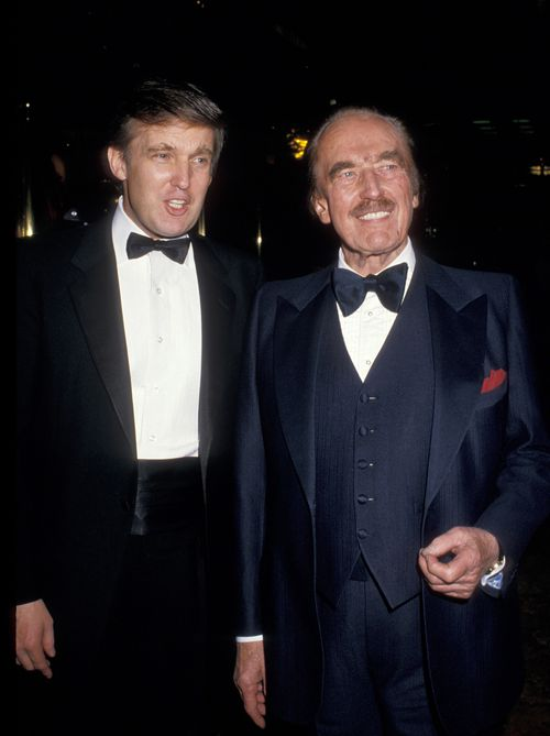 Donald Trump (left) and Fred Trump (right) in New York City.