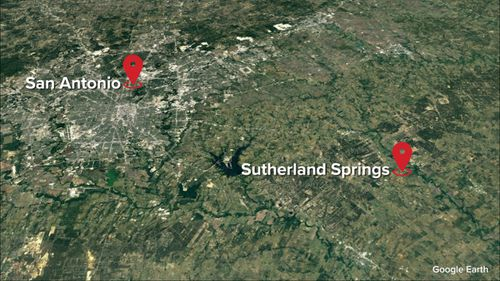 The town where the shooting occured is close to the major Texas city of San Antonio. (Google)